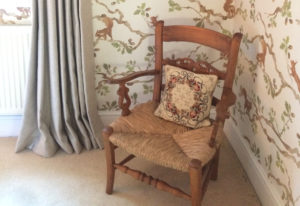 A chair in the Squirrel Room