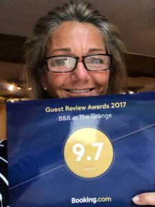 Rosanne and her amazing award
